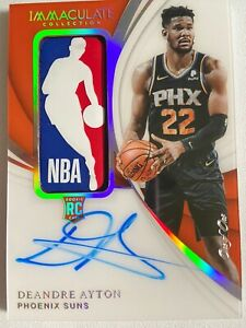 2018-19-IMMACULATE-ROOKIE-LOGOMAN-AUTO-RPA-d-1-1-Deandre-Ayton-SICK-One-of-One