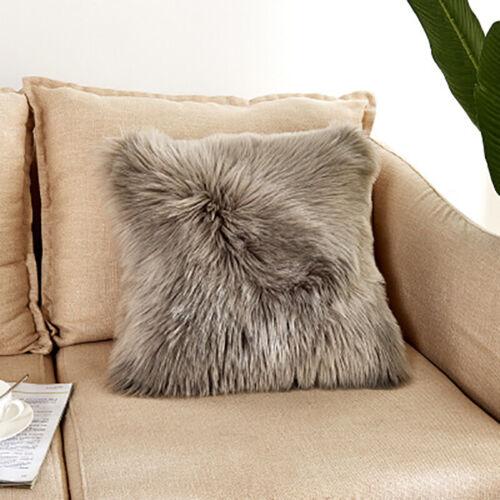 Moderne flauschige Kunstpelz Plüsch weiche Sofa Kissenbezug Room Home Dekoration