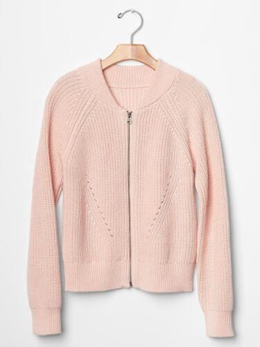 NWT $40 GAP Kids Ribbed Bomber Zip Up Sweater Jacket Cardigan XS XL 4 5 12