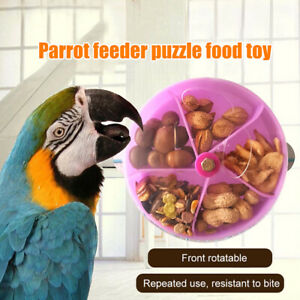 Pet-Parrot-Toys-Wheels-Bite-Chewing-Birds-Foraging-Food-Box-Cage-Feeder
