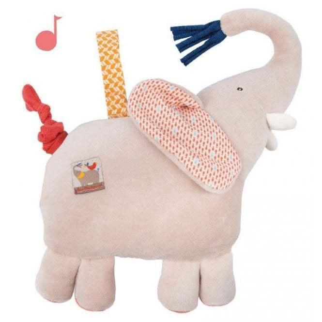 Moulin Roty Les Papoum Musical Musical Papoum Elephant 5c4bbb