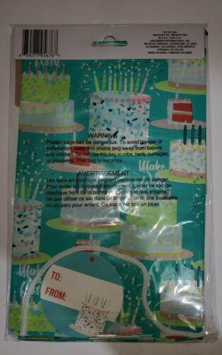 Cord And Tag Giant Birthday NEW HAPPY BIRTHDAY GIFT BAG SET Special Occasion