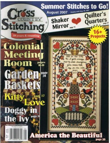 Cross Country Stitching Magazine  August 2007