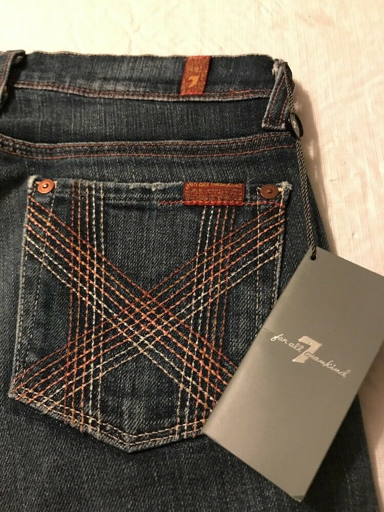 7 For All Mankind Women's Jeans Crop Mia Luxurious Distressed Size 27 NWT