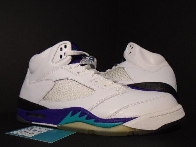 2006 Nike Air Jordan V 5 Retro Ls Blanco Hielo Esmeralda Uva Hielo Blanco púrpura 314259-131 11.5 12b760