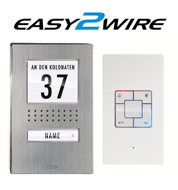 M-E Easy 2 wire 1 familles Audio türsprechanlage ADB 1140 AP 2 fils Bus-technique