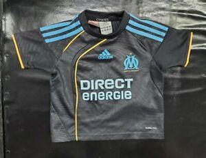 Maillot jersey maglia camiseta shirt trikot om Marseille 2009 2010 noir enfant 2