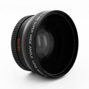 Wide-Angle-Lens-0-45x-macro-fo-Sony-Handycam-HDR-DCR-30mm-37mm-Digital-Camcorder