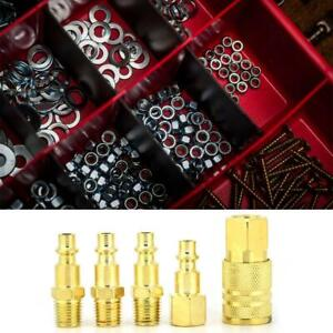 5Pcs-NPT-1-4in-Female-Male-Thread-Air-Hose-Connect-Quick-Connectors-Fittings-Set