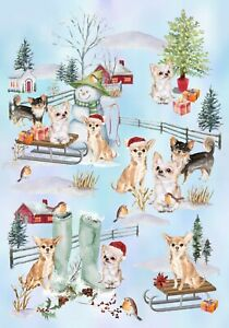 Chihuahua-Dog-Christmas-Gift-Wrapping-Paper-by-Starprint-1-sheet-Semi-gloss