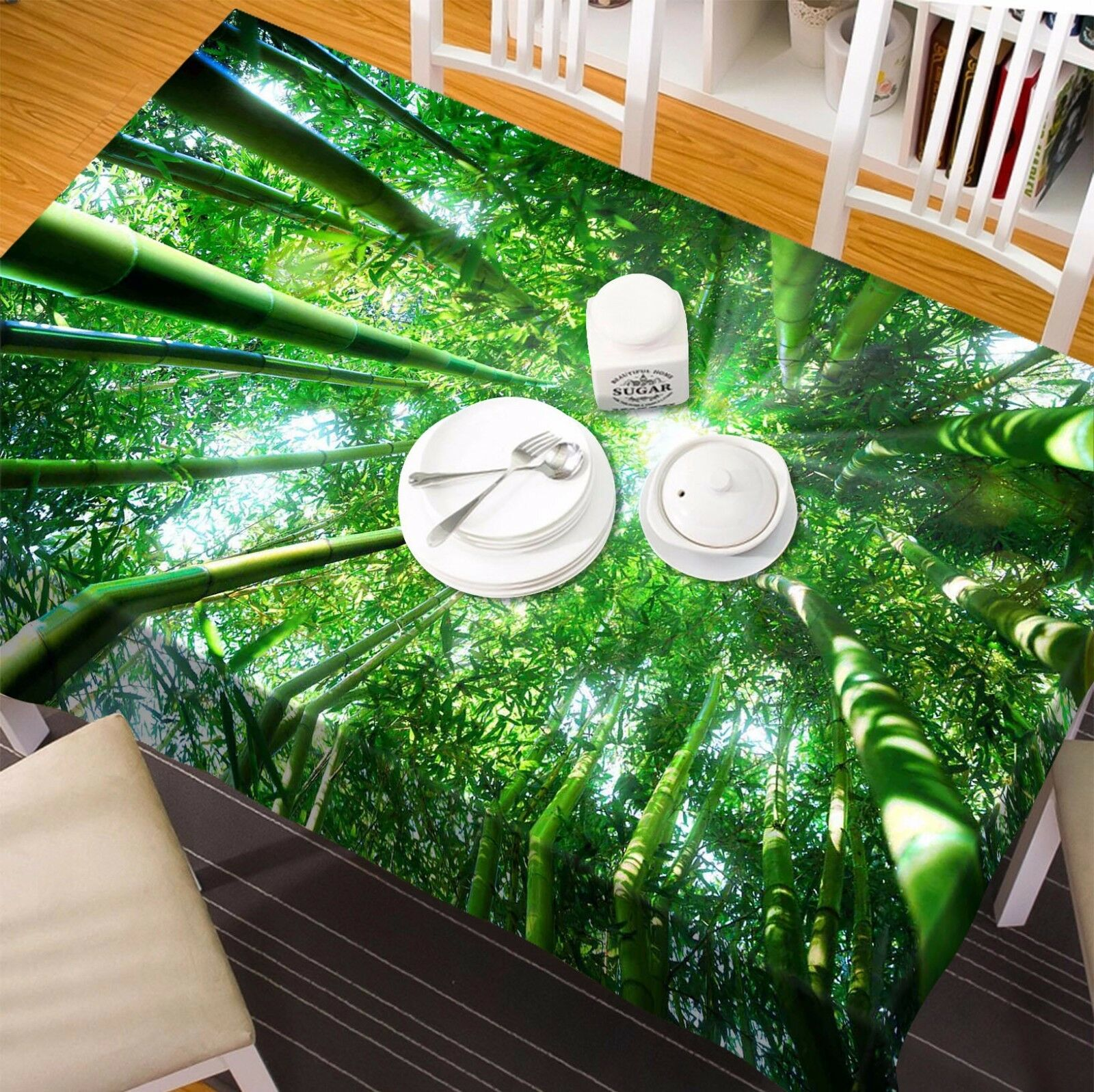 3D Bamboo 447 Tablecloth Table Cover Cloth Birthday Party Event AJ WALLPAPER AU