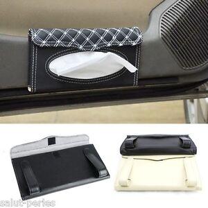 sp voiture bo te mouchoirs support porte papier boitier visi re pare soleil ebay. Black Bedroom Furniture Sets. Home Design Ideas