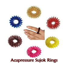 200pcs Sujok (Su-Jok) Acupressure Pain Therapy Finger Massager Circulation Rings