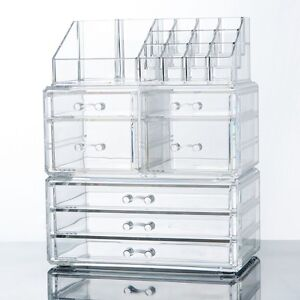 Makeup-Cosmetics-Jewelry-Organizer-Display-Box-Storage-w-Drawers-Space-Saving