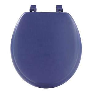 Navy Blue Soft Padded Toilet Seat Premium Cushioned Standard Round ...