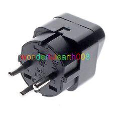 5 x ISRAEL Travel Plug Adapter Universal Outlet Accept World Plug Black