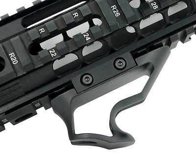 Tactical Angled Forend Grip Picatinny Ergonomic Forward Foregrip In BLK