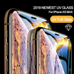 Liquid-Screen-Protector-For-iPhone-6-7-8-X-XS-XR-Full-UV-Glue-Tempered-Glass