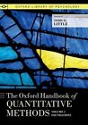 The Oxford Handbook of Quantitative Methods: Volume 1 by Oxford University Press Inc (Paperback, 2014)