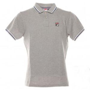 Polo-t-shirt-uomo-FILA-mod-392000-polo-M-C-Basic-cotone-piquet-delave-Col-Grey