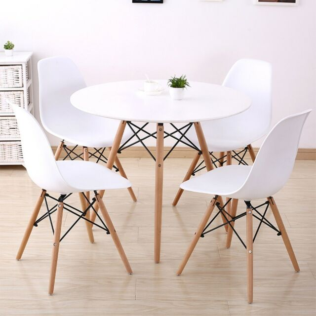 5 Piece Dining Set Gl Top Table And 4 Leather Chair For Kitchen Room