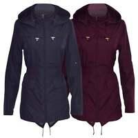 RAIN MAC Womens Lightweight Showerpoof FESTIVAL Jacket PARKA Plain Fishtail Coat