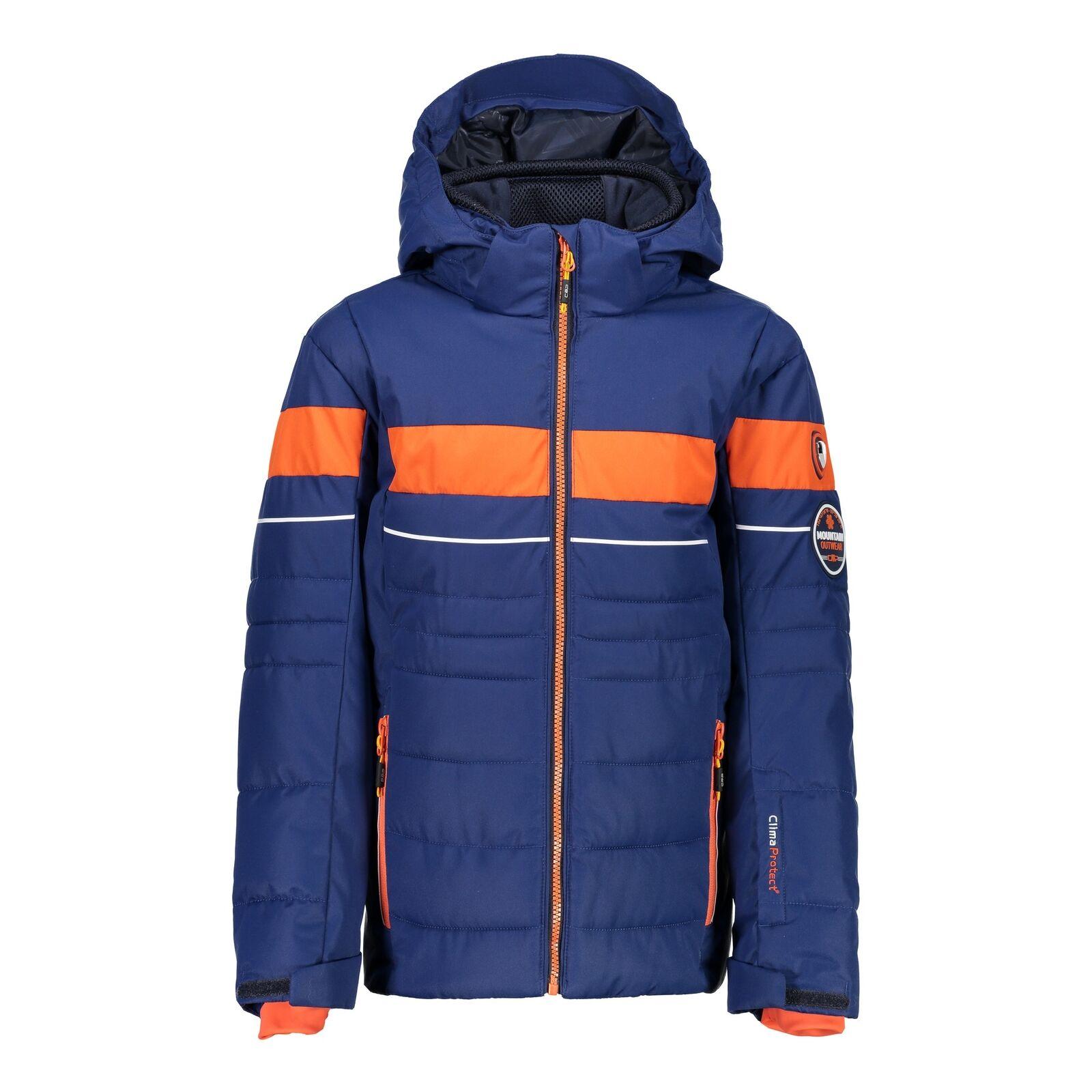 CMP Skijacke Snowboardjacke BOY JACKET SNAPS HOOD blau winddicht Twill