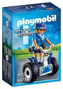 Playmobil-6877-Mujer-policia-con-balance-racer-Police-segway-City-Action