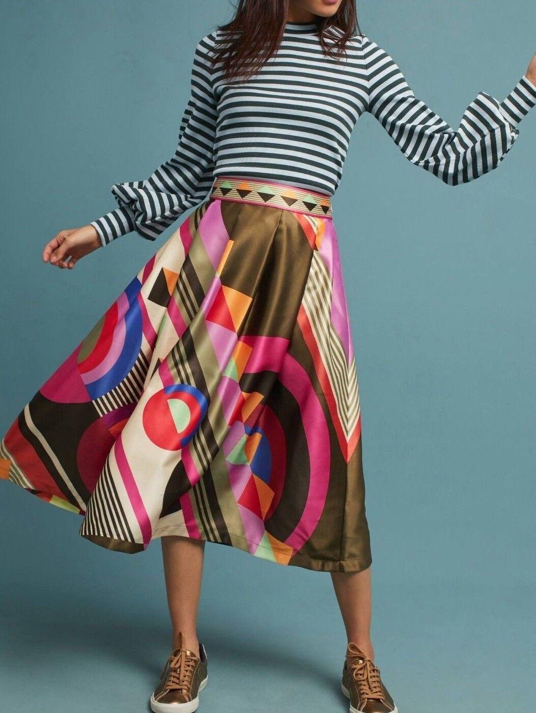 Anthropologie Fitzroy Midi Skirt by Manish Arora  Sz 6 - NWOT