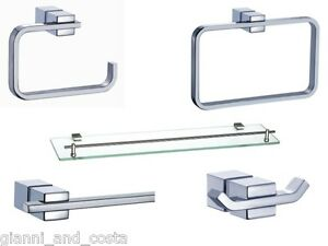 Image Is Loading BATHROOM ACCESSORIES SET 5 PIECE SET MODEL SENTE