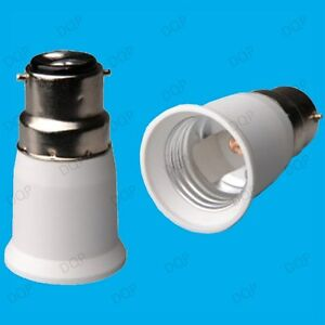 Bayonet-BC-B22-To-ES-E27-Screw-Light-Bulb-Adaptor-Lamp-Fitting-Converter-Holder