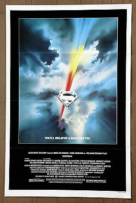 Superman  Christopher Reeve  Gene Hackman  Authentic Original 1978 Movie Poster