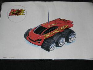 Tyco-Scorcher-6x6-Colour-Drawing-Prototype-Blueprint-Taiyo-Metro-1980-039-s-1990-039-s