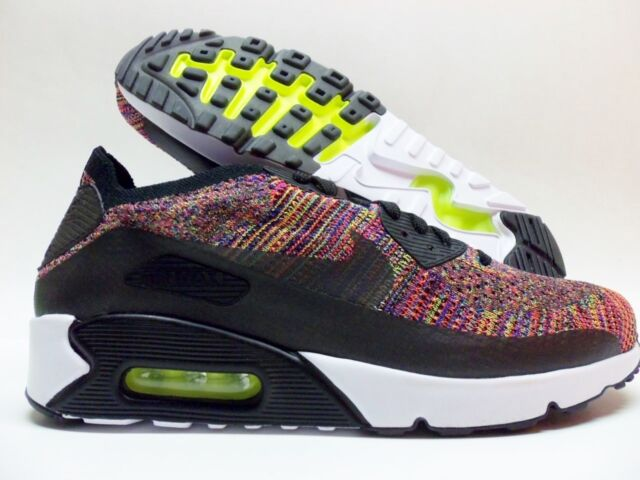 NIKE AIR MAX 90 ULTRA 2.0 FLYKNIT BLACK MULTI-COLOR SIZE MEN S 10.5   c215857a1