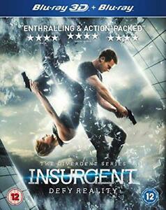 Insurgent [Blu-ray 3D + Blu-ray] [Region Free], Very Good DVD, Miles Teller, Kat