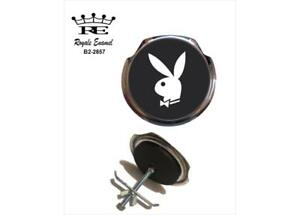 Royale Classic Car Grill Badge + Fittings BLACK PLAYBOY BUNNY 1960's - B2.2857