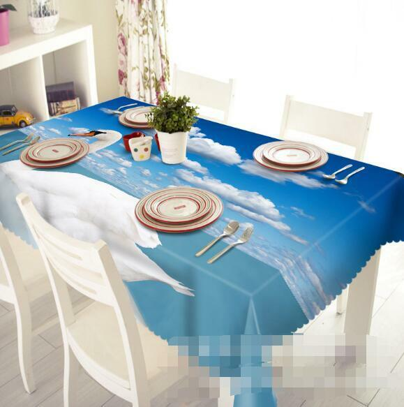 3D Pretty Swan 64 Tablecloth Table Cover Cloth Birthday Party Event AJ WALLPAPER