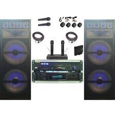 NEW Karaoke System RSQ Bluetooth Wireless Mics Machine 3000 WATTS