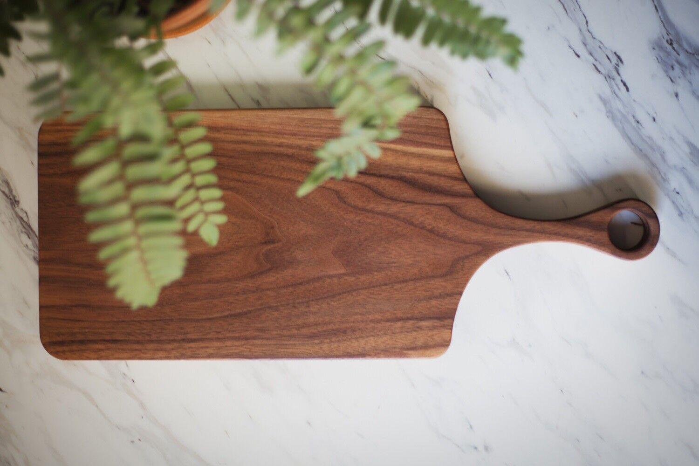 Planche à découper Bois Serving Cheese à Découper Plateau W Poignée Cuisine Bar Accessoire