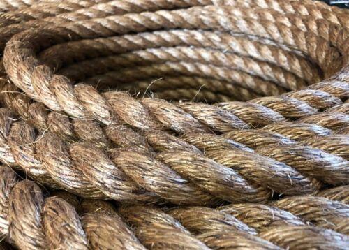 Manille pour terrasse jardin bateaux Tug O War 6 mm NATURAL Manille corde x 40 mètres