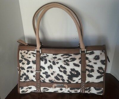 Guess Caytie East West Leopard Denim Tote Bag, Brown | eBay