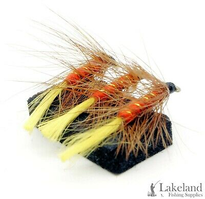 6x or 12x Red Tailed Kate Hackled Wet Flies for Trout Fly Fishing 3x
