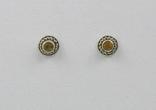 choix de couleur 925 Sterling Argent Pointillée Zircon rondes Post ou clous d/'oreilles