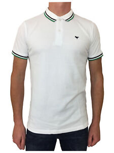 Weekend-Offender-Mens-Cotton-Pitbull-Polo-Shirt-Top-In-White