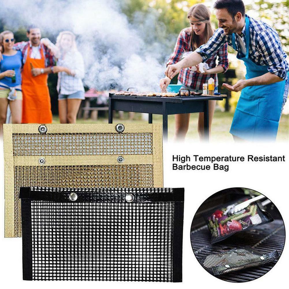 Accessories Grid Shape Non-stick Mesh Pad BBQ Tools Mat Grill Mats Barbecue Y2X0