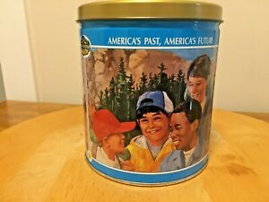 Vintage-Trails-Ends-Boy-Scouts-of-America-Limited-Edition-1990-Empty-Popcorn-Tin