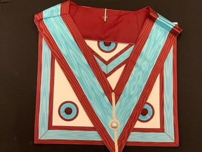 Masonic Regalia Mark Degree Master Masons Apron Plus Collar Made On