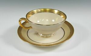 Lenox-China-LOWELL-CREAM-BORDER-Cup-amp-Saucer-Set-s-Multi-Avail-Cups