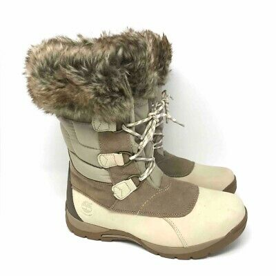 TRENDSup Collection Blizzard-2 Women/'s Lace up Waterproof Snow Duck Fur Boots