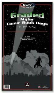 BCW-Graded-2-Mil-Mylar-Comic-Book-Bags-9-034-x-14-1-4-034-Qty-250
